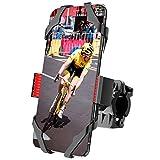 ipow Fahrrad Handyhalterung Handyhalter, Universal Handyhalterung fürs Fahrrad Motorrad Laufband mit 3-Fach-Sicherheitschutz geeignet für 4-6,5 Zoll Handys wie iPhone XS Xr X 8 7 6 Samsung S9 S8 usw.