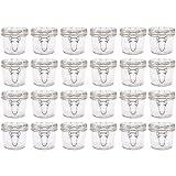 LM-Kreativ 24 x Einmachglas mit Bügelverschluss (150 ml) Vorratsglas ideal für Kaffee, Gewürze, Tee, Marmelade oder zur Aufbewahrung von Kleinteilen